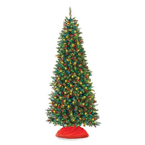 large multi colored lights 7 pre lit artificial tree slim with multi