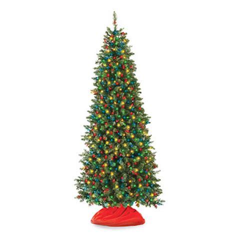 pre lit colored lights tree 7 pre lit artificial tree slim with multi