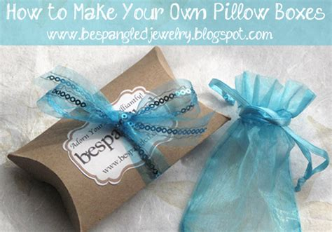 make jewelry gift box bespangled jewelry diy pillow boxes make your own