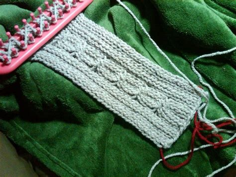 knit stitch on loom cable stitch on the loom knifty knitter projects