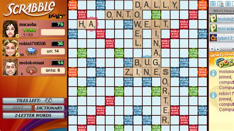 is la a word in scrabble scrabble pogo ea