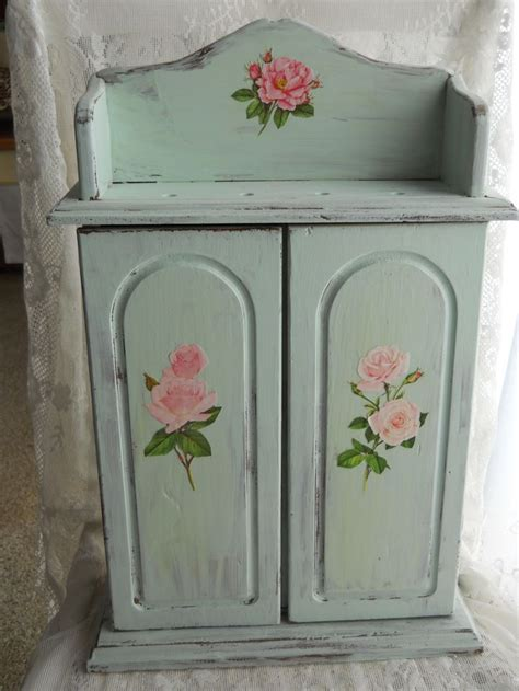 decoupage on painted wood simple decoupage distress paint a wood cabinet in shabby