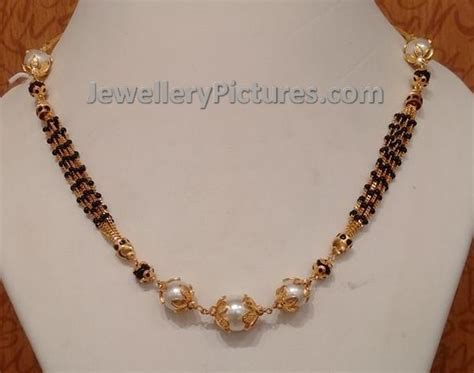 black jewellery small chains light weight black chains jewellery designs