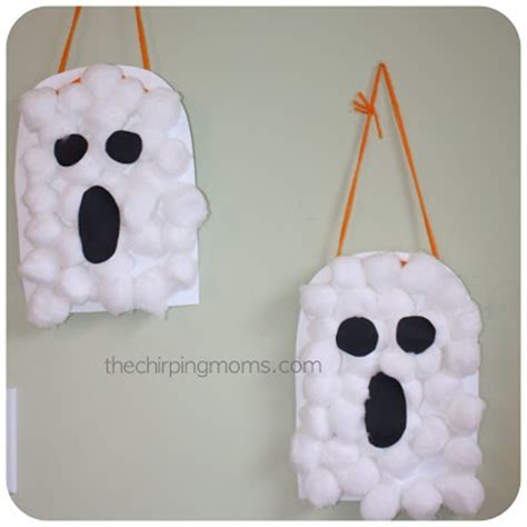 ghost craft for cotton ghosts munchkins and
