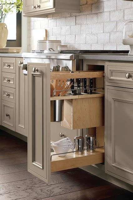 pull out cabinets kitchen pantry base utensil pantry pull out cabinet with knife block