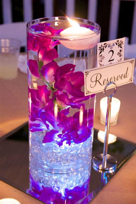 candle in water centerpiece flower submerged in water centerpiece search