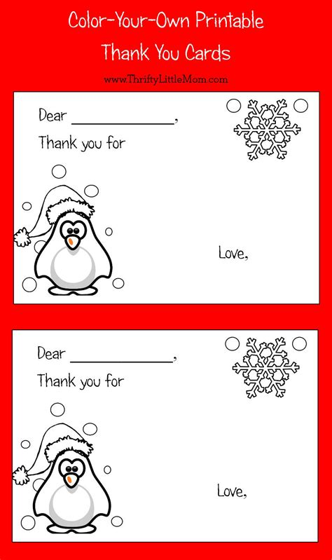 own thank you cards color your own printable thank you cards for