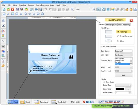 visiting card software inspirational stock of free printable business card maker