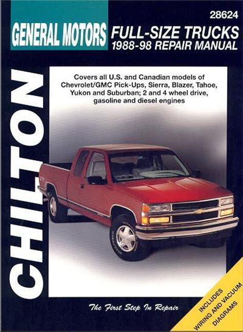service and repair manuals 1998 gmc yukon engine control chevrolet gmc pick ups trucks 1988 1998 chilton owners service repair manual 0801991021