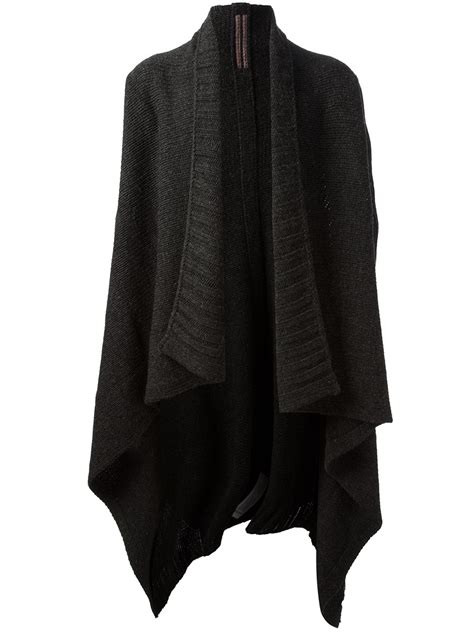 black knit cardigan rick owens oversized knit cardigan in black for lyst