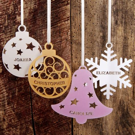 named decorations personalised tree decoration by twist