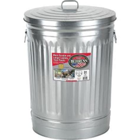 home depot paint waste behrens 31 gal galvanized steel trash can with lid