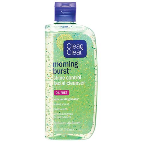 bursting clean and clear clean clear morning burst shine cleanser 240ml