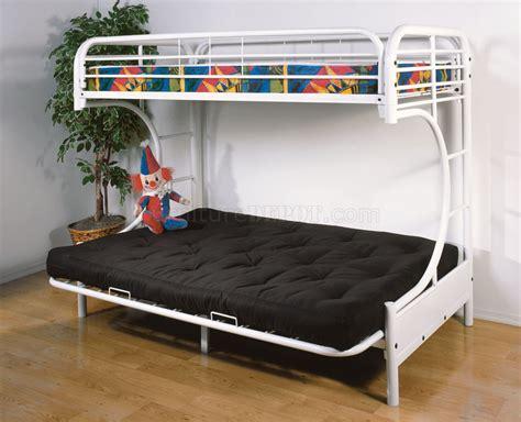 c futon bunk bed c style white finish contemporary futon bunk bed