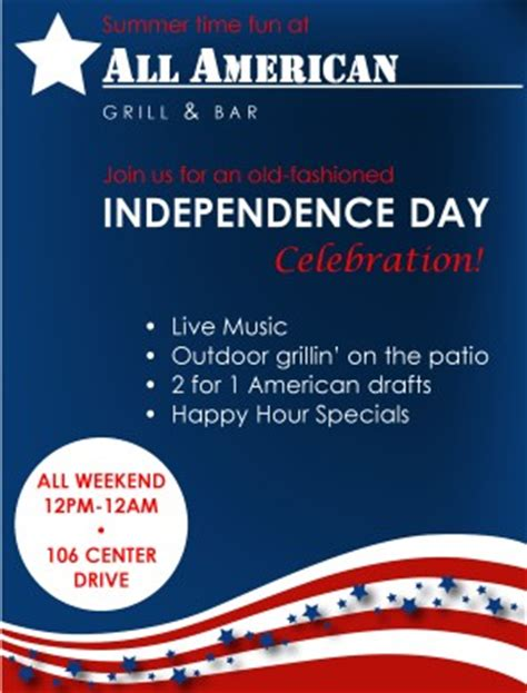 4th of july flyer 4th of july flyers
