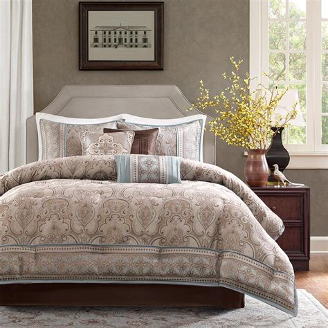 gray and brown comforter sets beautiful 7pc modern brown blue stripe white grey