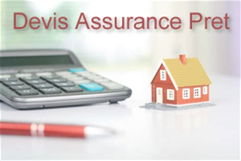 devis assurance pret immobilier comparateur gratuit et rapide