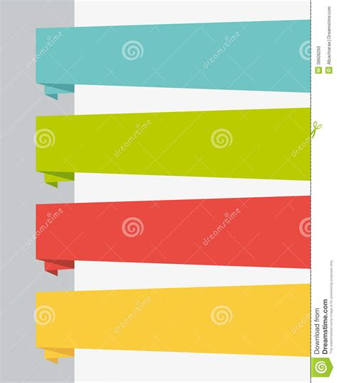 origami ui flat design ui title banners set stock photo image