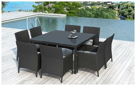 table et chaises d ext 233 rieur en r 233 sine 8 places jardin center fr