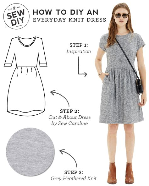 how to knit dress diy everyday knit dress sew diy