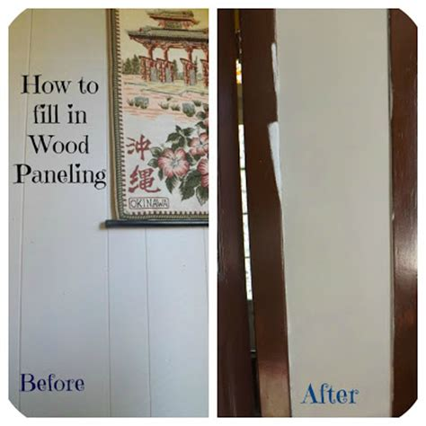 covering wood paneling confessions of an add how to fill in wood