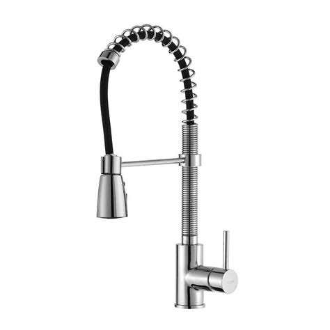home depot kitchen faucets pull kraus single lever pull out kitchen faucet chrome the