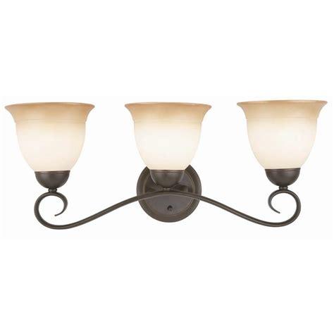 home depot lighting fixture design house cameron 3 light rubbed bronze bath light