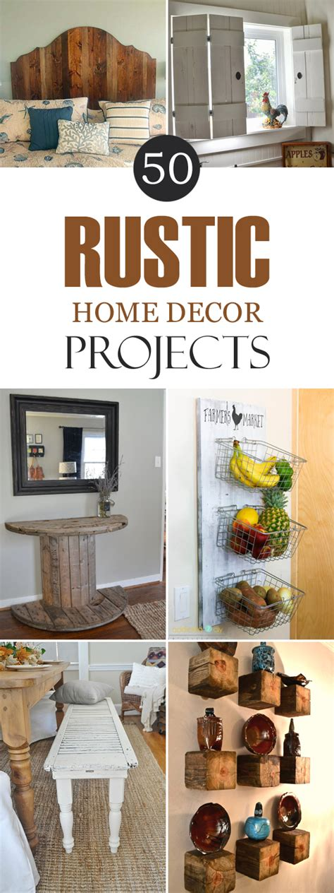 diy home decor project ideas 50 rustic diy home decor projects