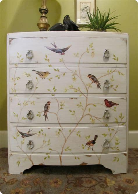 diy decoupage dresser painted bird dresser