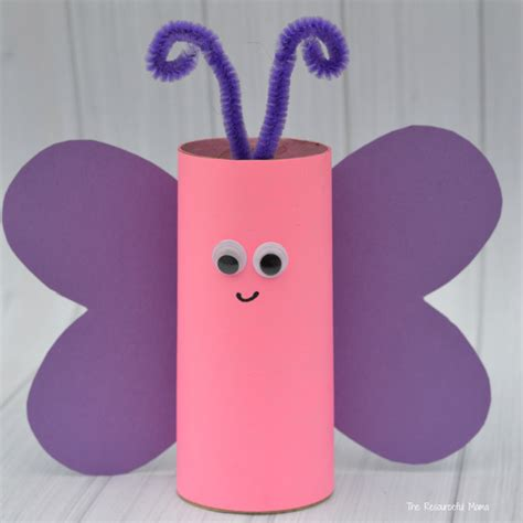 toilet paper roll butterfly craft toilet paper roll butterfly craft the resourceful