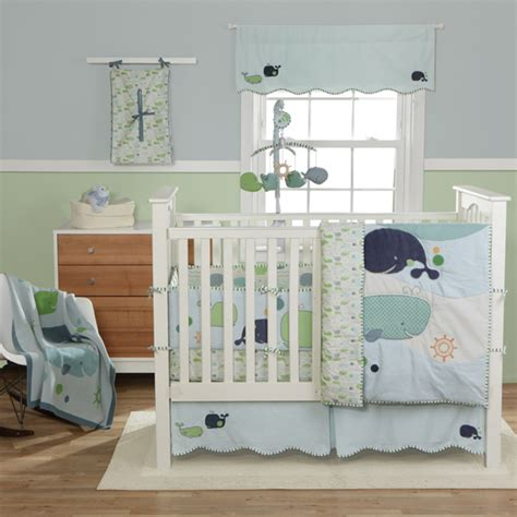 whale crib bedding sets bringing up boys nursery bedding