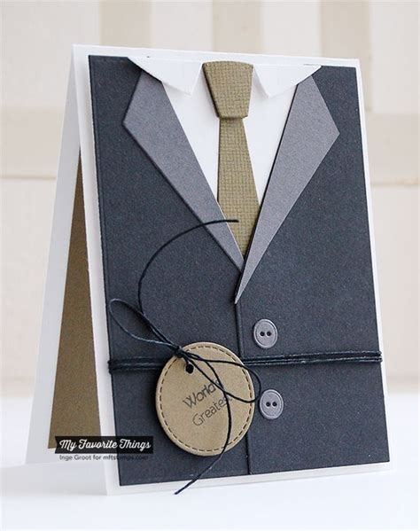 how to make a suit card clearly sentimental about fathers linen background