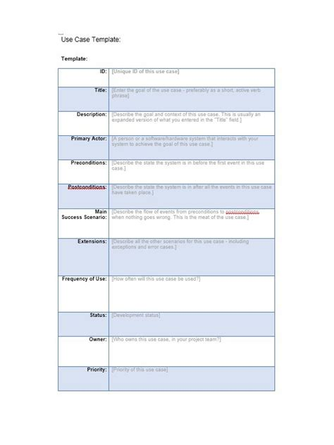 40 use case templates amp examples word pdf template lab