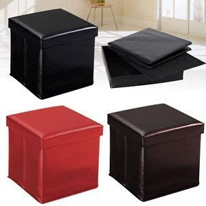 chic square leather storage ottoman leather style ottoman storage boxes and low stools square