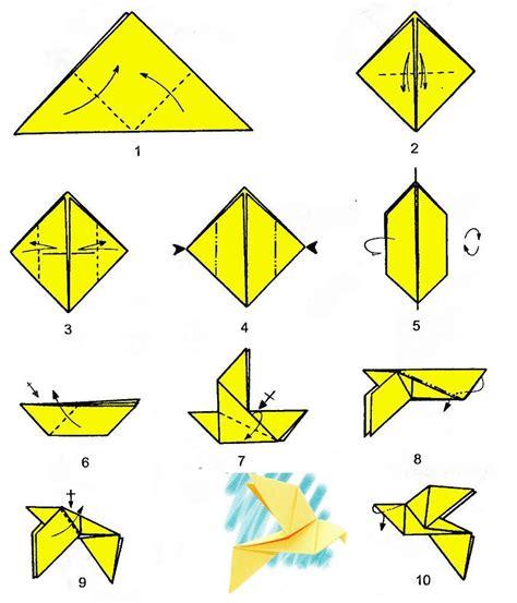 origami dove printable origami dove single chart
