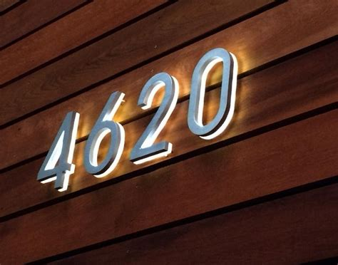 led house luxello modern 8 backlit led house numbers surrounding