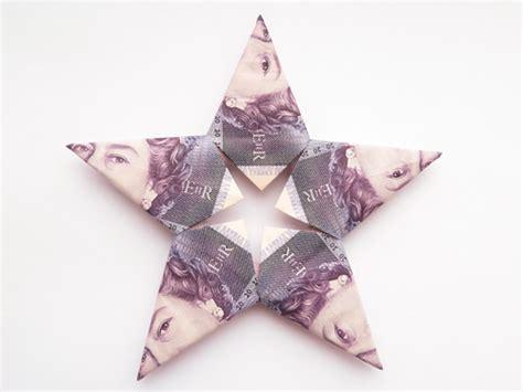 uk money origami modular money origami from 5 bills how to fold step