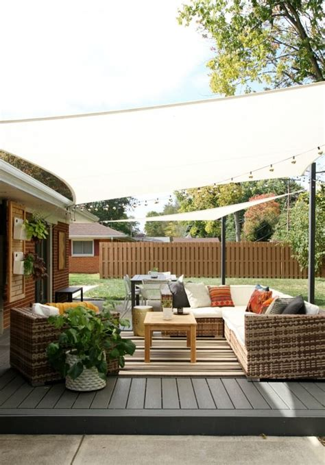 patio sail shade 25 best ideas about patio shade on outdoor