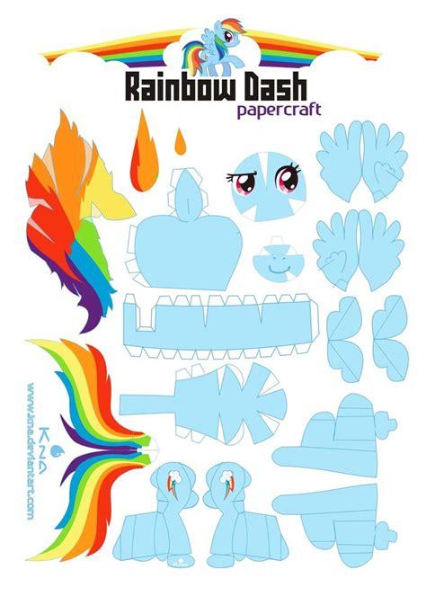 my pony paper crafts my pony on rainbow dash pinkie pie and