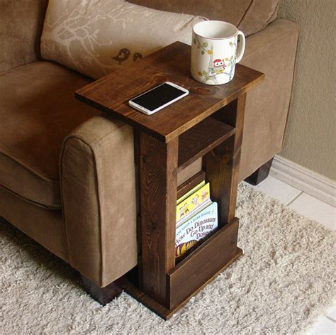 sofa side table storage sofa chair arm rest table stand ii with shelf and storage