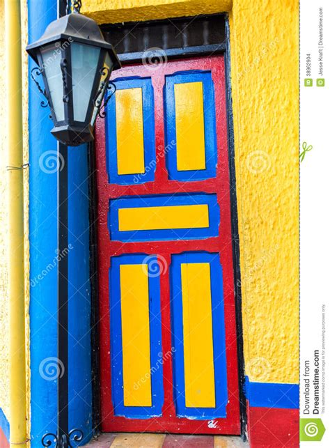 colorful doors colorful door stock photo image 38962904