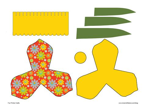 free printable 3d paper crafts 8 best images of 3d flower cut outs printable printable