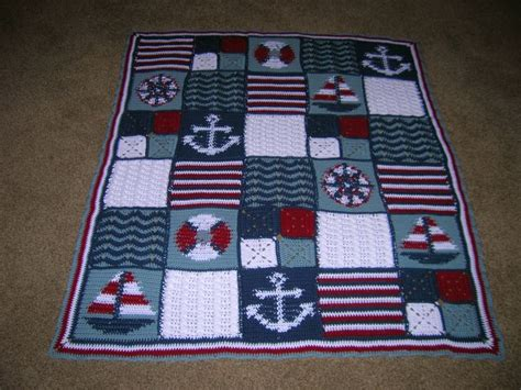 nautical blanket knitting pattern 1000 ideas about nautical crochet on crochet