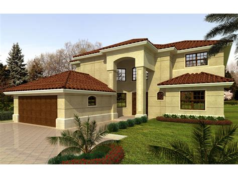 Two Story House Plans With Master On Second Floor terra cela santa fe style home plan 106s 0016 house