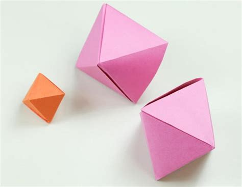 simple box origami how to fold a simple origami octahedron box decoration