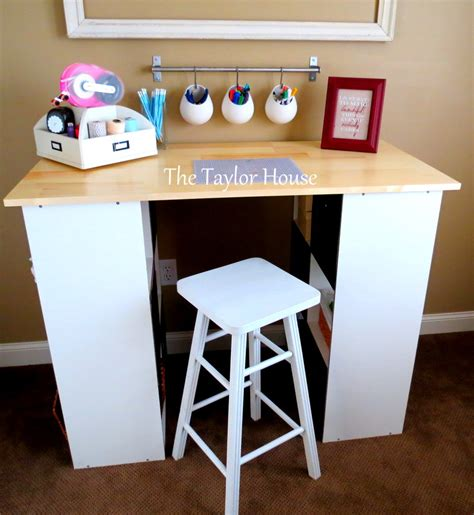 craft tables for diy inexpensive craft table with storage the house
