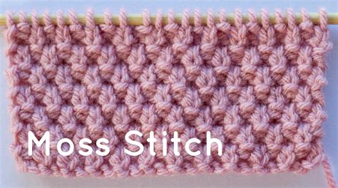 How To Knit The Moss Stitch
