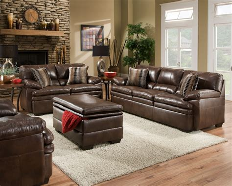 leather sectional living room furniture brown bonded leather sofa set casual living room furniture