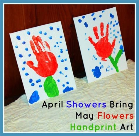 april crafts for quot april showers bring may flowers quot handprint inner