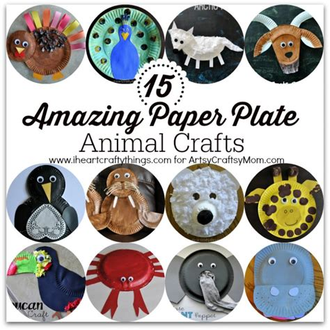 paper animal crafts 15 amazing paper plate animal crafts artsy craftsy